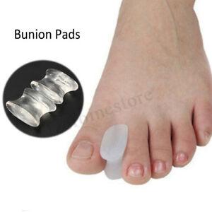 2x-Soft-Silikon-Gel-Toe-Separatoren-Abstandhalter-Glaetter-Relief-Foot-Hallux