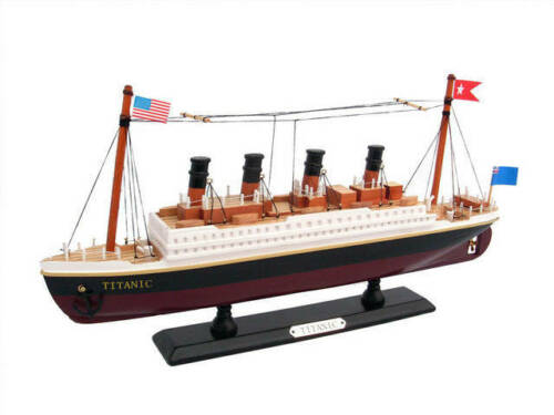 "Model Ship Wooden RMS Titanic Model Cruise Ship 14/"""
