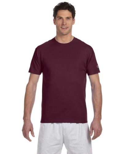 Champion 100/% cotton Short-Sleeve C logo Tag-free T-Shirt T425 T525C