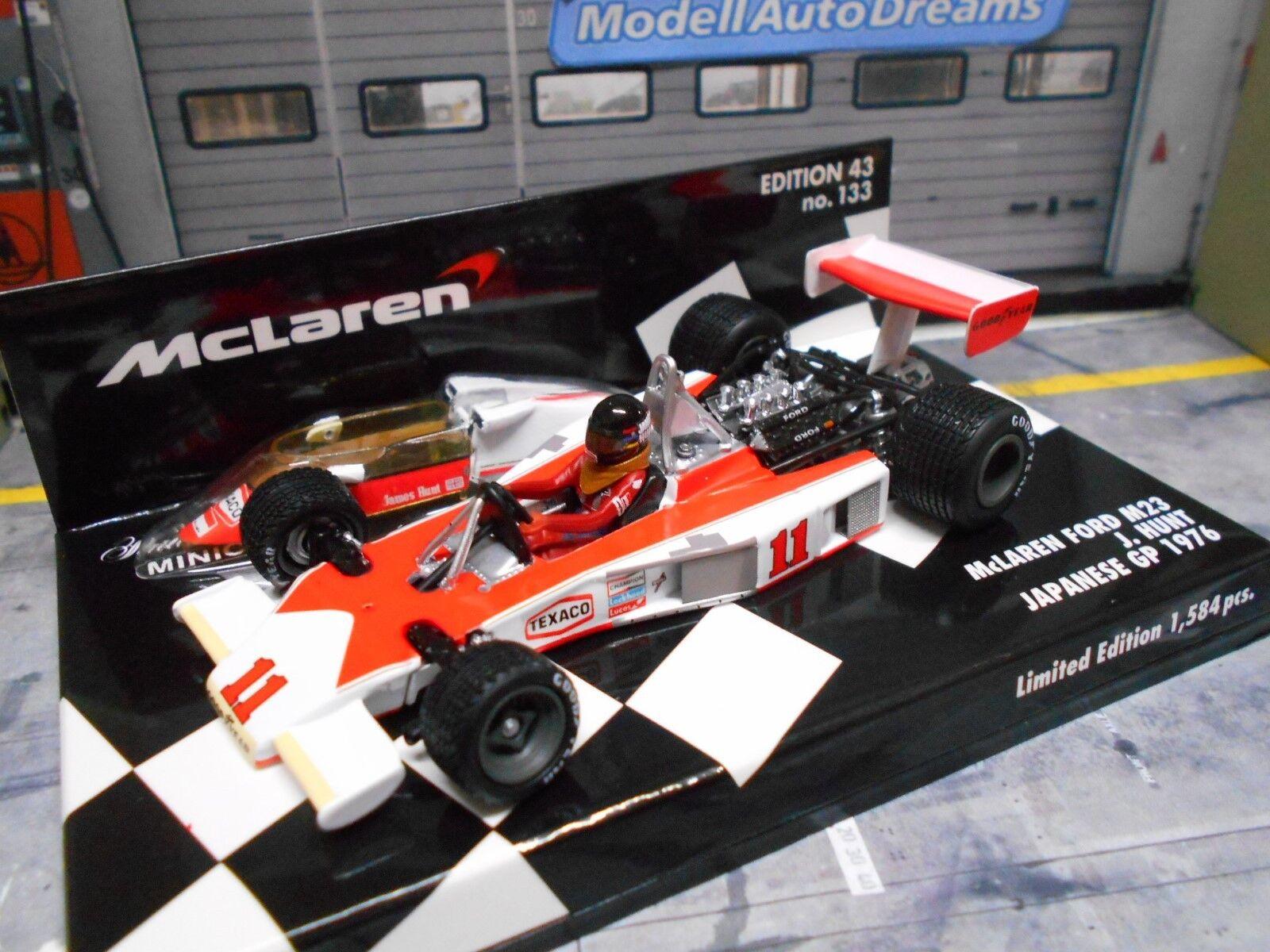 F1 McLaren Ford v8 m23  Cosworth champion du monde Hunt wc 1976  11 Minichamps 1 43  60% de réduction