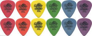 12-X-Jim-Dunlop-Tortex-Standard-MIXED-Guitar-Picks-Starter-Set-AUSSIE-STOCKIST
