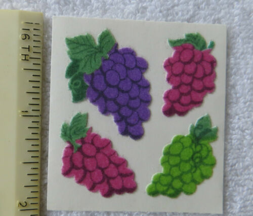 Sandylion FUZZY GRAPE BUNCHES Strip of SUPER RARE RETIRED Stickers LIMITED/'