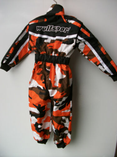 Wulfsport Age 5-6 Orange Camo Kids Off Road Outdoor MOTOCROSS  Quad Overalls Sx