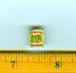 Dollhouse Miniature Size Can  Green Beans