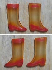 Francie, Skipper Clear Boots W/ Red Trim Clear Out! Japan