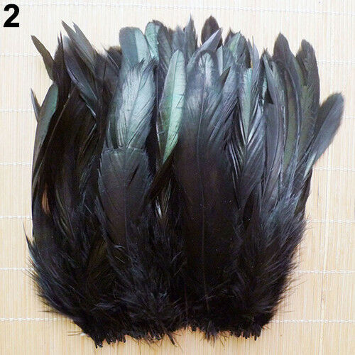 NE/_ 50PCS 13-20CM NATURAL COCK ROOSTER TAIL FEATHERS FOR DIY CLOTHES DECOR BRI