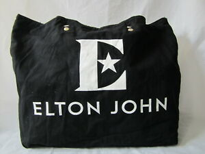 Elton-John-Farewell-Yellow-Brick-Road-Tour-VIP-Black-Canvas-Tote-Bag-BAG-ONLY