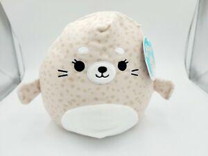 "Squishmallow 8"" Lilou Spotted Seal Soft Tan Plush"