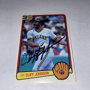 Cliff Johnson Oakland Athletics Signed Donruss Card W/Our COA