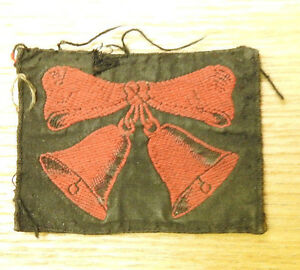 Original-Military-WWII-47th-London-Division-T-A-Cloth-Formation-Badge-4354