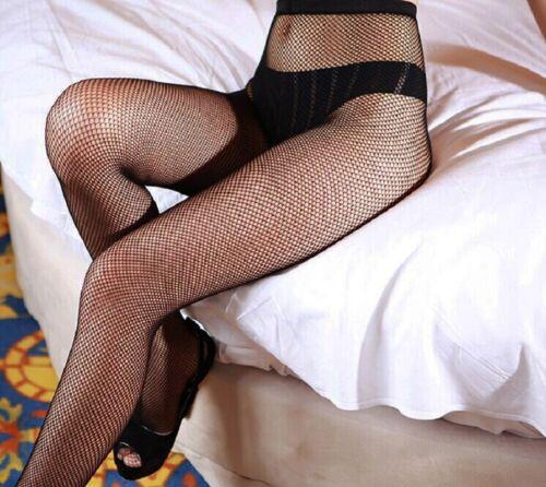 Women Ladies Black Fishnet Tights Mesh Skinny Pattern Pantyhose Stockings