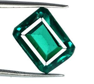 Zambian-Green-Emerald-8-9-Ct-Loose-Gemstone-Natural-Emerald-Cut-AGSL-Certified
