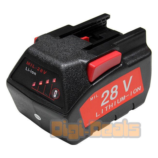 Replacement Power Tool Battery Milwaukee 28V M28 V28 48-11-2830 2000mAh Li-Ion
