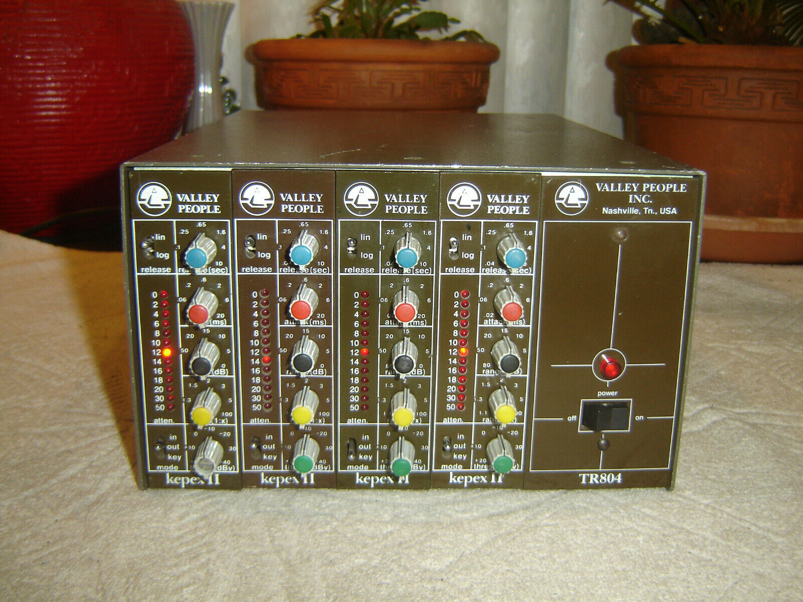 Valley People Kepex II (4x) with TR804 Power Module & Case, Vintage Unit