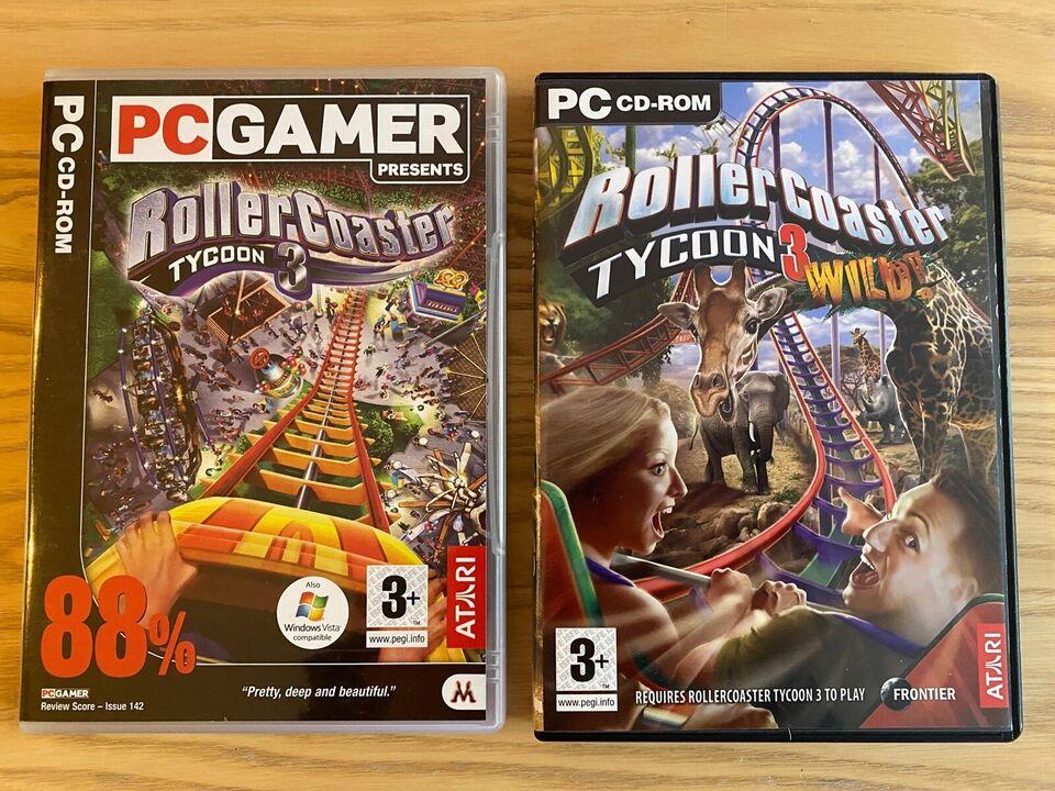 Roller Coaster Tycoon 3 & Wild, simulation