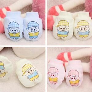 Newborn Baby Boys Girls Infant Cotton Handguard Anti Scratch Mittens Gloves Q