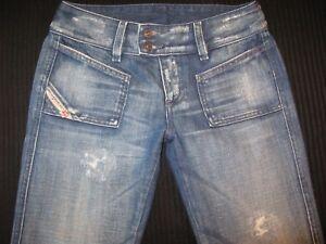 premium selection 80314 b95c6 Dettagli su Diesel Jeans Hush Ds Taglie 25 Invecchiato Lavaggio 772 Basse  Stivali 100%