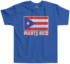 Boys Girls Kids /& Toddler Flag of Puerto Rico Long Sleeve T-Shirt 100/% Cotton
