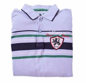 UNITED-COLORS-OF-BENETTON-Boys-Polo-Shirt-Long-Sleeve-11-12-Years-XL-Blue