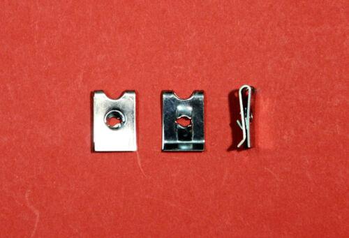 """Confezione da 25 guglia//velocità//U//dispositivo di fissaggio Clip /""""a vite no.6 3.5 mm/"""" in Zinco /""""NUOVO/"""""""