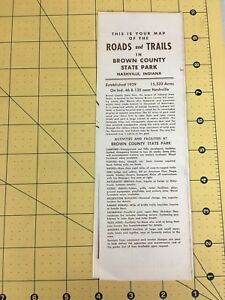 Vintage Map Of The Roads And Trails In Brown County State Park