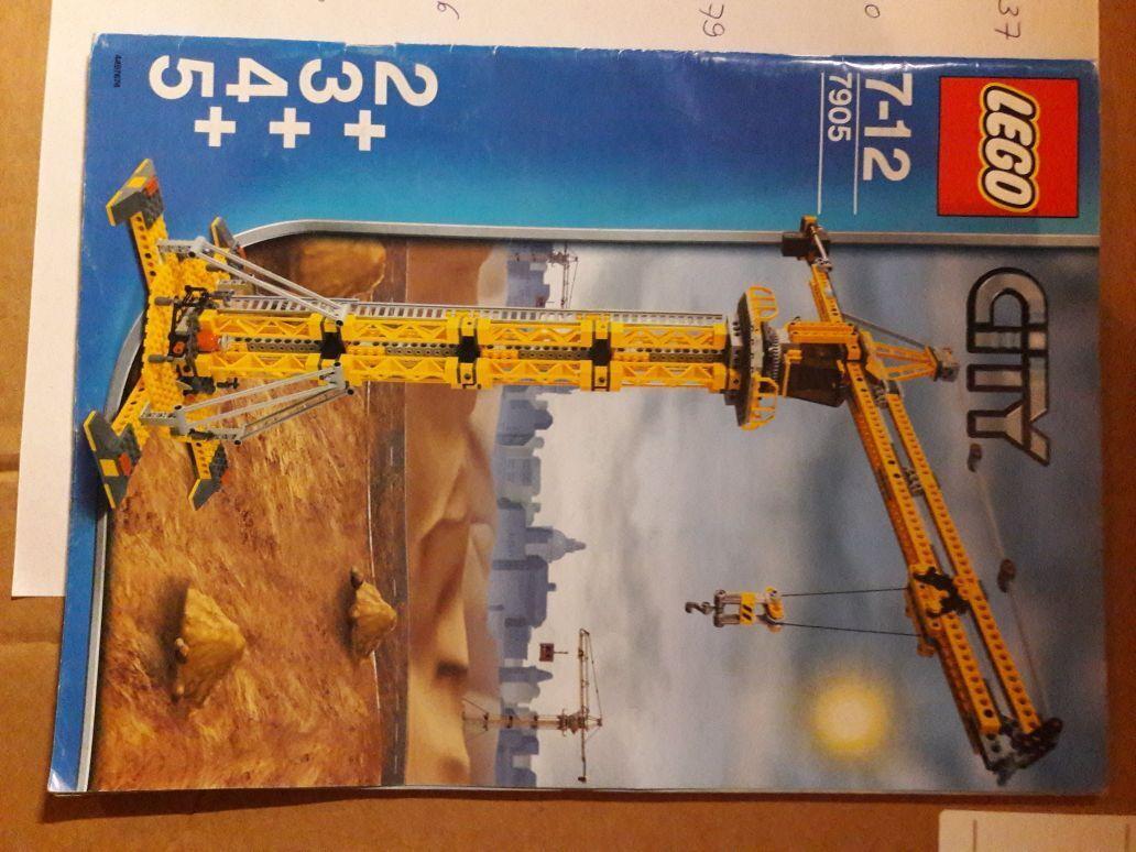 LEGO City Großer Großer Großer Baukran (7905) fast vollständig mit OBA top Zustand 49c4ba