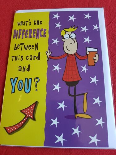 Tasteful /& Fun Standard Size Joke Birthday Cards