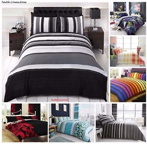 New Luxury Bedding Duvet Cover Sets Pillow Cases King Size Double Single Super