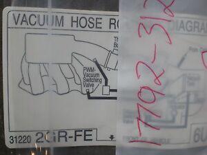Vacuum Hose Routing Diagram | Lexus Es350 Vacuum Hose Routing Nameplate Sticker 17792 31220 New