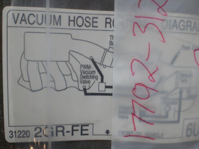 Swell Lexus 1779231220 Genuine Oem Vacuum Diagram For Sale Online Ebay Wiring Cloud Hisonuggs Outletorg