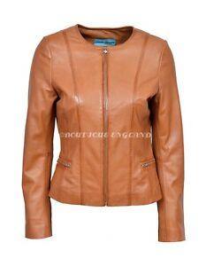 Tan Jacket Ladies Leather Deluxe Soft Fashion New Real Stylish Charliz Designer vTnwxqaE