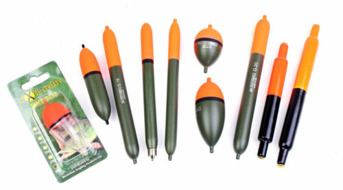 pencil,cigars,sliders 10 Assorted Quality Pike Fishing floats