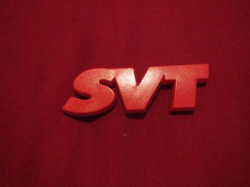 """FORD MUSTANG SVT COBRA LIGHTNING SVT F150 FOCUS CONTOUR /""""SVT/"""" EMBLEM RED"""
