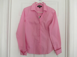 NWT-JONES-NEW-YORK-PLATINUM-EASY-CARE-SIZE-2-NEW-PINK-DOUBLE-CUFF-TOP