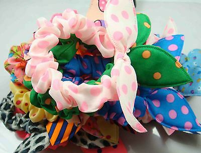 Wholesale 10pcs Lot Rabbit Ear Dots Hairband Women Hair Band Ponytail Holder 21y