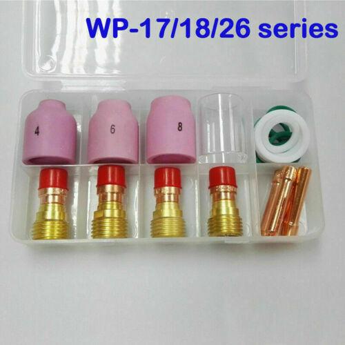 18pcs TIG Stubby Gas Lens Ceramic Nozzle Heat Cup Kit WP17//18//26 2.4mm 3//32inch