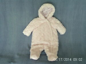 340d48119 Baby Girls 3-6 Months - Fluffy Pink Pram  Snowsuit - Mothercare