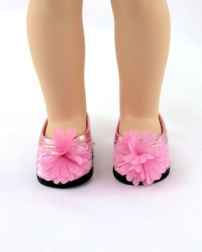 "Doll Clothes 14.5/"" Shoes Pink Sequin Fit 14.5/"" AG Wellie Wisher Dolls"