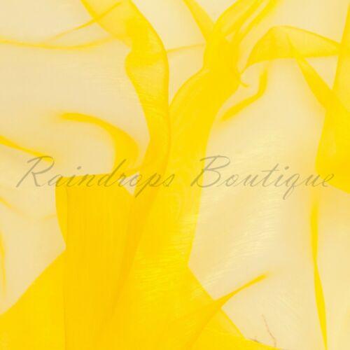Cristal Sparkle Polyester Organza au mètre 150cms Large épais /& VIBRANT