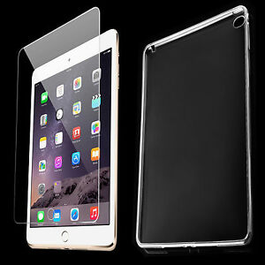 TPU-Cover-fuer-iPad-Air-2-Tasche-Huelle-Silikon-Schutzhuelle-Panzer-Glas-Folie