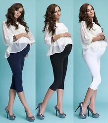 3/4 Umstandsleggings für Schwangere Mama Schwangerschaft Capri Hose Leggings