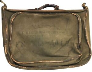Details about WW2 USAAF US Army Air Force Type B4 B-4 Flyers Aviator Canvas  Leather Bag 17112487f5def