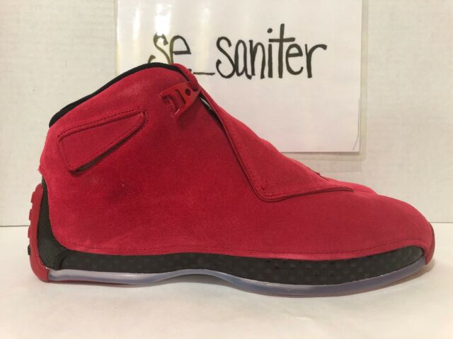 sports shoes 137f2 5f288 NIKE AIR JORDAN 18 RETRO TORO GYM RED SUEDE BLACK AA2494 601 SZ 10.5 --