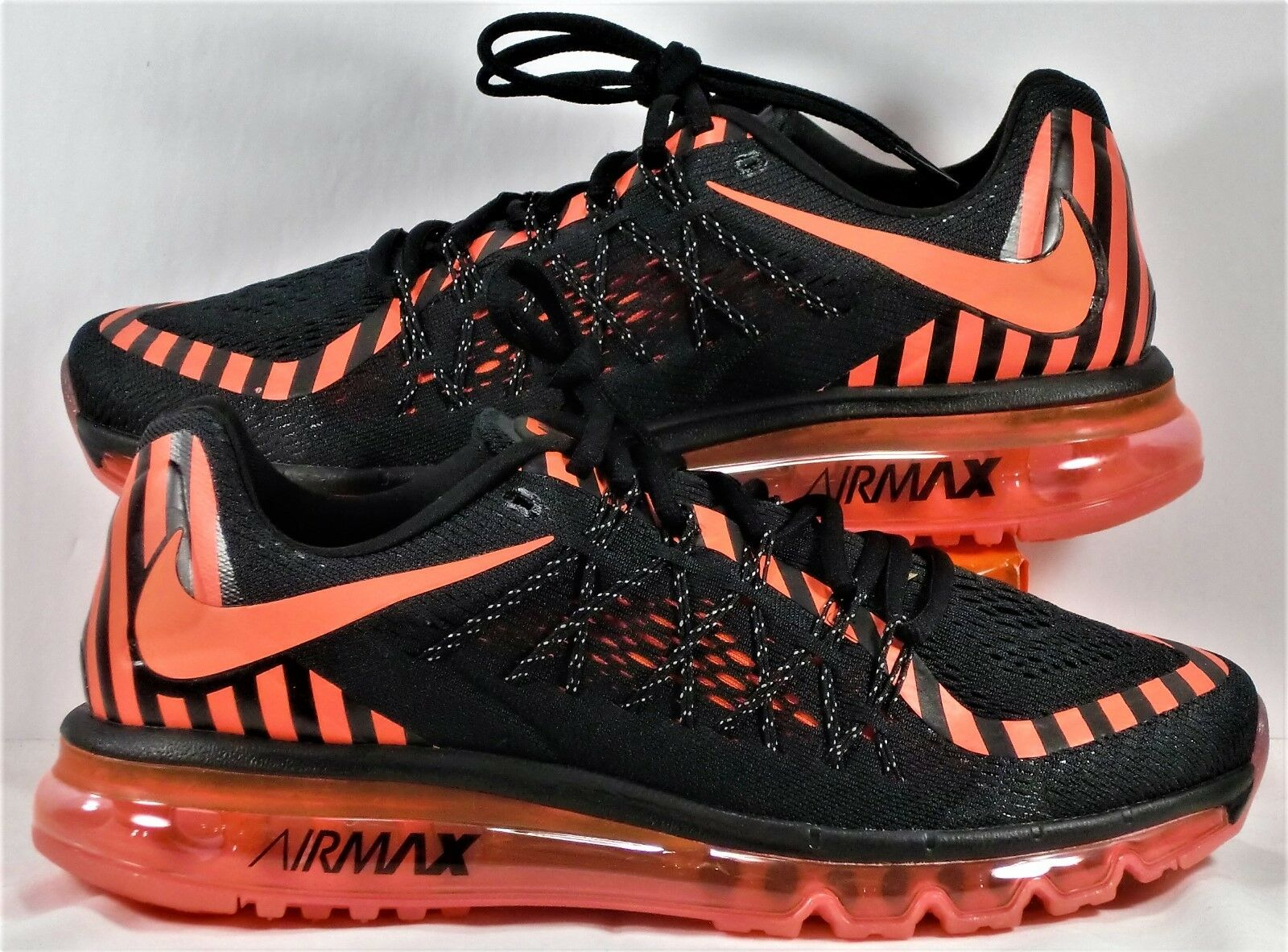 Nike Air Max 2015 Black & Hot Lava Pink Women Running shoes Sz 11 NEW 746683 011