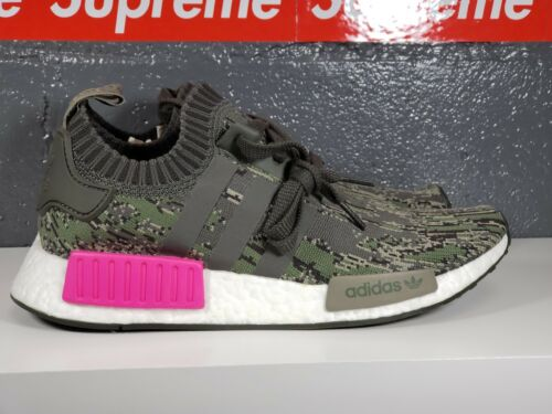 Bz0222 Adidas Camo Primeknit Mens 5 bianco rosa R1 Nmd Pk 8 grigio Verde Sz FqnrCIBqxw