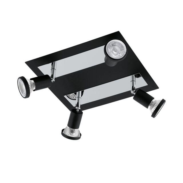 Eglo 94966 Sarria LED Spot 4x5W Stahl Schwarz Chrom