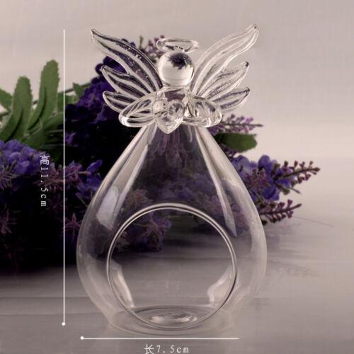 Bulk Clear Glass Inspirational Angel Tea Light Holder Candler For Any Room Gift