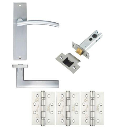 Latch Set c//w Charnières 44//45mm pour portes coupe-feu Amalfi Levier Poignée de porte sur plaque