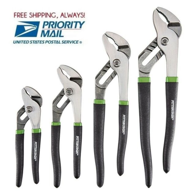 "4 Pc Tongue and Groove Joint Pliers Set  6/"" 8/"" 10/"" 12/"" Free Fast Shipping!"