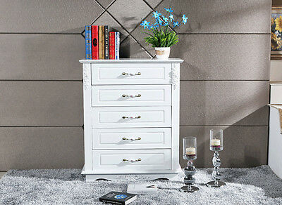 New French Provincial shabby chic 5 Chest Drawers Luxury Wooden Tallboy Cabinet